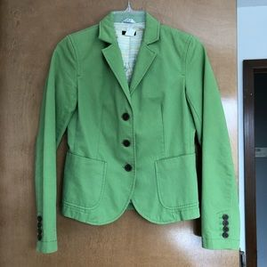Pea green Jcrew blazer